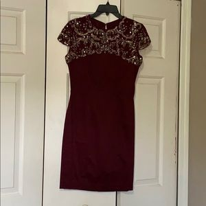 French connections burgundy dress